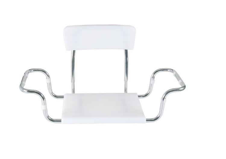 Sedile per vasca da bagno seduta in moplen con schienale