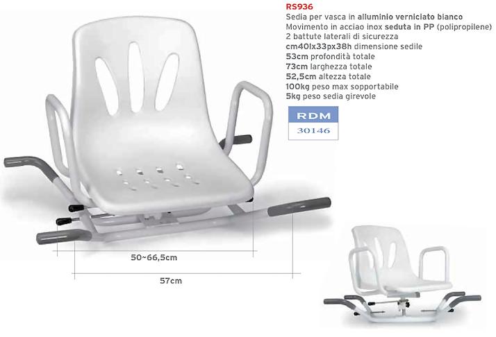 Sedile Per Vasca Con Seduta Girevole.Sedia Per Vasca Girevole Rs936 Ausili Per Il Bagno Orthomedical